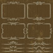 Floral Decorative Borders, Ornamental Rules, Dividers, Vector