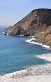 The scenic shore along the Pacific Coast Hiighway in California
