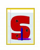 Alphabet Grade School Homework S