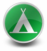 Icon, Button, Pictogram Camping