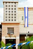 Israel Flag Hanging For Independence Day