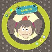 Zodiac signs collection. Cute horoscope - CANCER.