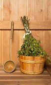 Sauna Broom In Bucket