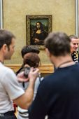 Visitors Take Photo Of Leonardo Davinci's
