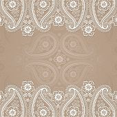 Paisley  Border Lace Design Template