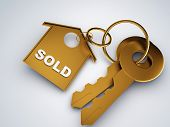 Gold Key With Sold Home