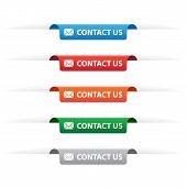 Contact Us Paper Tag Labels