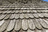 Old Historic  Brown Wood Roof  Tiles