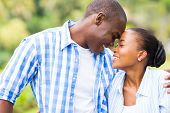 cute young african couple in love