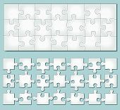 Vector Horizontal Puzzle
