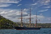 Tall ship James Craig in Sydney