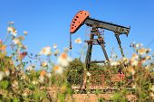 stock photo of nod  - Oil Pump Jack  - JPG