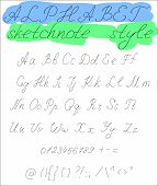 Sketchnote alphabet