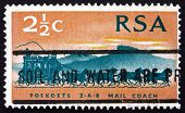 Postage Stamp South Africa 1969 Stagecoach Of 1869