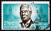 Postage Stamp South Africa 1966 Dr. Hendrik F. Verwoerd