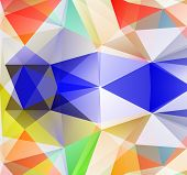 Triangle Background. Colorfull Polygons.