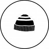 beanie knit cap symbol