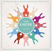 Easter Bunnies Arranges As Flower