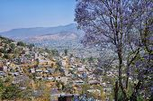 Aerial view of village in Oaxaca