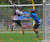 Chumash lacrosse shot on goal
