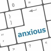 Keyboard With Enter Button, Anxious Word On It
