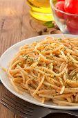 pasta spaghetti macaroni in plate