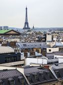 Paris, France. Roofs of Paris , view from the observation deck