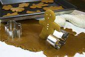 Baking Gingerbread Man