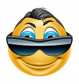 Character With Sunglasses Smiling