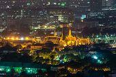 Wat Phra Kaew At Night , Bangkok, Thailand.
