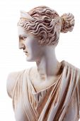 foto of goddess  - Artemis was the great Olympian goddess of hunting wilderness and wild animals - JPG