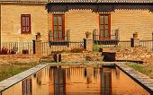 Alhambra Garden Pool Reflection Abstract Granada Andalusia Spain