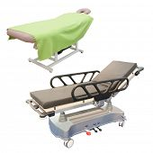 medical bed under the white background
