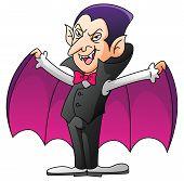 Dracula On Isolated White Cartoon
