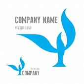 Abstract Bird Logo Sign. Vector logo template. Concept illustration.