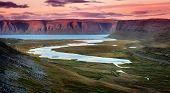 Westfjords in Iceland at sunset