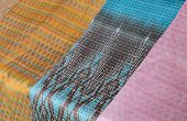 Thai Silk Fabric Pattern Background