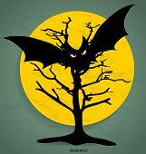 Happy Halloween design background. Vector illustration.