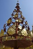 Shwezigon Pagoda Is The One Of The Most Beautiful Pagodas In Bagan. The Gold-painted Main Structure
