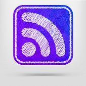 Watercolor Icon Rss