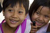 Asiatic Children Smiling