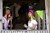 Kayan Women at the window