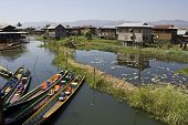 Floating Market On Inle Lake