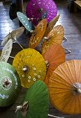 Myanmar Typical And Colorful handmade umbrellas