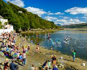 Making bubbles, Portmeirion beach