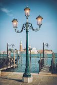 Lamp on St. Mark's Square, Venice, Italy