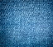 Perspective and closeup view to abstract space of empty light blue natural clean denim texture for t