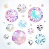 Vector gems set