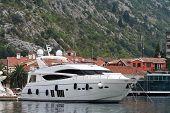 White Yacht In The Mediterranean Port