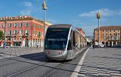 City Of Nice - Modern Tram On The Place Massena